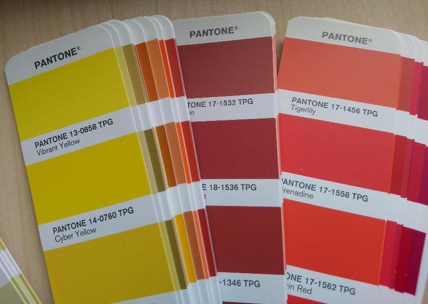 Pantone shades